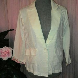 New White Linen Jacket